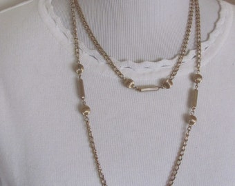 "Necklace Beautiful Gold Plated Chain 44"" Inch Long Necklace (143F) Affordable Jewelry!!!"