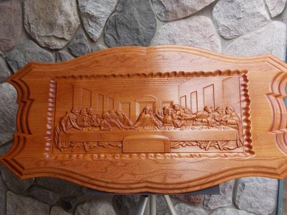 Leonardo da vinci the last supper wall decor cnc d wooden