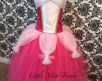 Aurora Inspired Tutu Dress, Sleeping Beauty Tutu Dress, Princess Aurora Tutu Dress, Aurora Tutu, Princess Aurora, Sleeping Beauty Costume