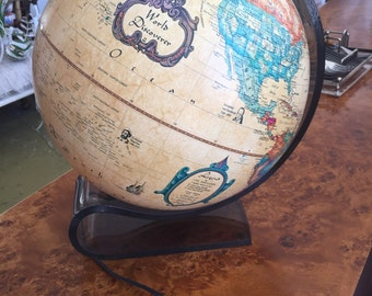 vintage danish light and globe by scan-globe made in denmark