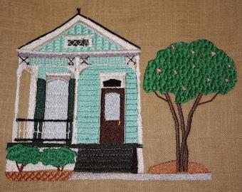 Shotgun House machine embroidery design