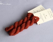 Hand dyed cotton thread / floss (6 strands) deep vermilion (089) for cross stitch / embroidery