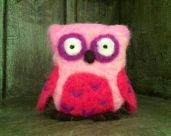 Owl, Needle Felted Toy, Waldorf Toy, Felt Toy, Toddler Toy, Nature, Gift
