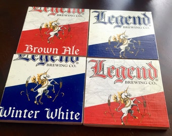 Legend Beer Box Coasters