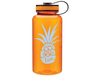 SDT Sigma Delta Tau Pineapple Water Bottle