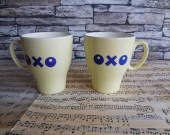 2 Vintage OXO Mugs