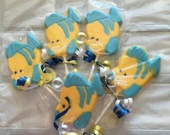 6 Flounder Lollipops from The Little Mermaid