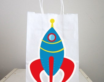 Space Rocket Goody Bags, Space Party Goody Bags,  Astronaut Goody Bags, Space Goody Bags, Space Favor Bags, Astronaut Favor Bags