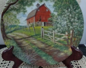 The Weathered Barn by Bart Jerner Collector Plate with Certificate