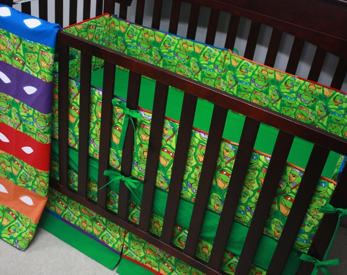 Teenage Mutant Ninja Turtle Baby Bedding with Bumpers-MTO