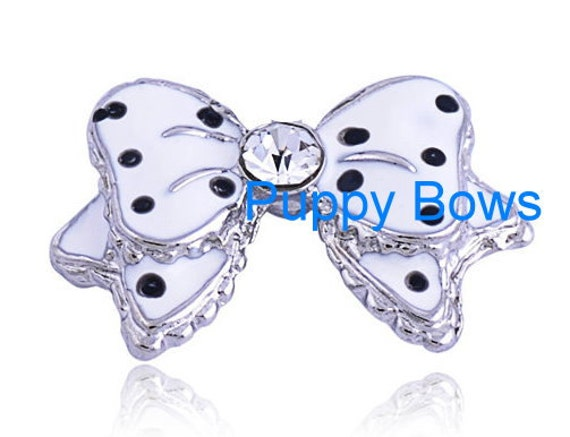 Puppy Bows ~WEE SUPER TINY little rhinestone bowknot pet hair clip barrette 5 colors!