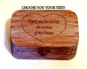 Wooden Box, Wood Box, Gift Custom Jewelry Box, Anniversary Box, Family Gift Box, Jewelry Gift Wife, Husband Gift Box, Gift Heart Box