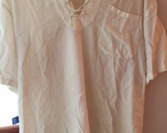 White Peasant Shirt