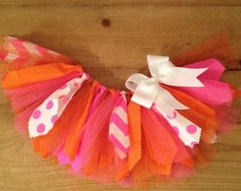 Items Similar To Pink And Orange Tutu Dress By Atutudes