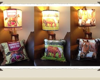 Stunning Horse and Deer 16 inch lampshades SALE!