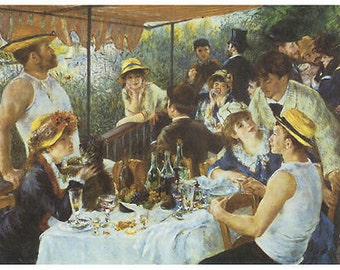 Renoir - Luncheon of the Boating Party (1881) Art Canvas/Poster Print A3/A2/A1