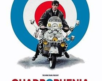 Quadrophenia 60s Mods Scooters Brighton The Who 1979 Film A3 Poster Re-print