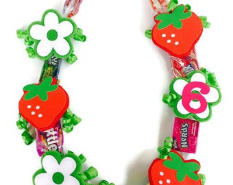 Strawberry Birthday - Strawberry Patch - Strawberry Party - Strawberry Shortcake Party - Strawberry Shortcake Baby Shower - Candy Lei