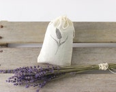 """Lavender to Clean Crystals - 1 cup of Dried Lavender Buds in 4"""" x 6"""" Cotton Bag, Cleanse Crystals with Lavender, Lavender for Altar"""