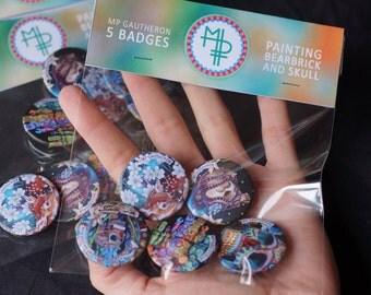 5 badges