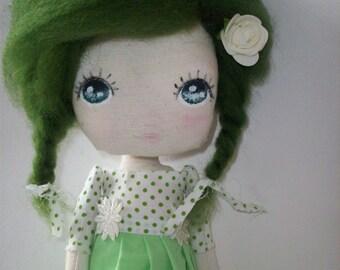 cloth doll,nursery decor, girl gift