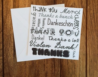 Thank You Cards, Many Thanks Cards, Thank Yous, Pack Of Cards, Card Pack