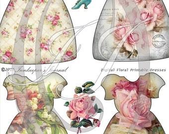 Vintage Floral Dress Tags