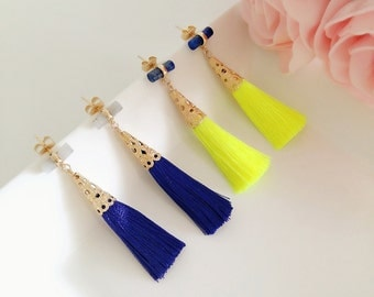 Jolly Tassel Collection | Personalized Earrings, Tassel Earrings, Boho Earrings, Wedding Earrings, Sister Earrings, Gift for her, Valentine