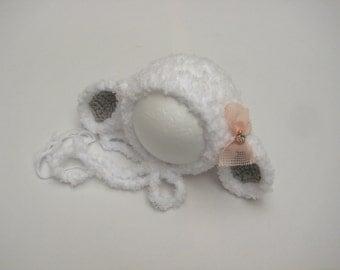 Newborn Lamb Hat, Newborn Hat, Spring Hat, Easter Hat, Animal Hat, Boy hat, Girl Hat, Photo Prop, Newborn prop, Lamb Hat, Lambie Hat