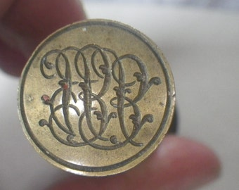 Antique Wood and Steel Intaglio Seal