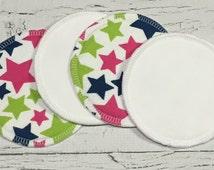 "One set 4.75"" Organic bamboo fleece/flannel nursing pads/ waterproof nursing pads/flannel nursing pads"