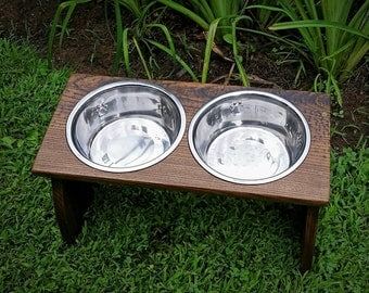 Custom Dog Feeding, Elevated Dog Bowl, Dog Bowl Stand, Raised Dog Feeder