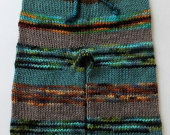 Hand Knitted Wool Longies, Wool Diaper Cover, Cloth Diaper Cover, 12-24 months