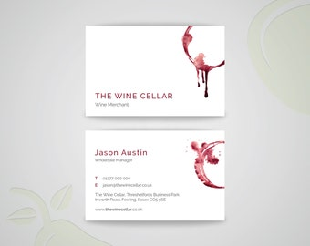 Wine Stain Business Card Template