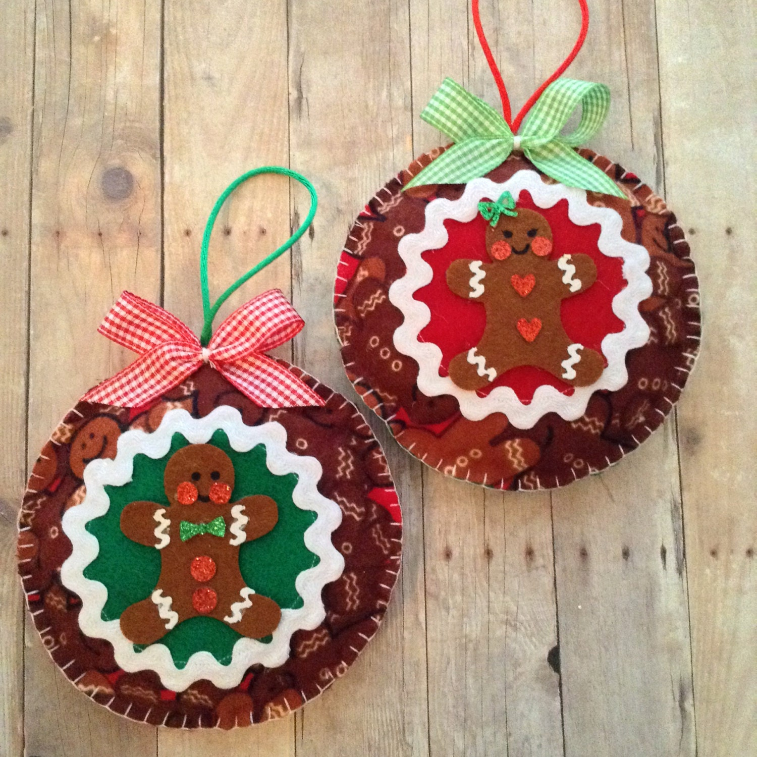 Gingerbread Ornaments / Christmas Tree Ornaments / By