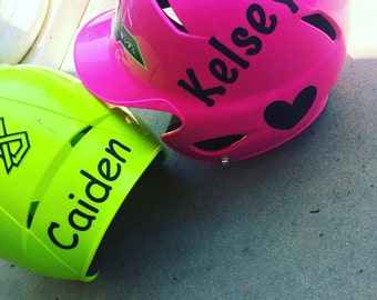 Personalized Helmet Decal