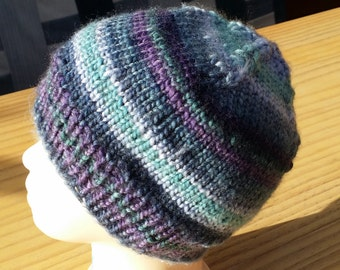 Beanie cup - children - multicolor - knitted - handmade - 10107