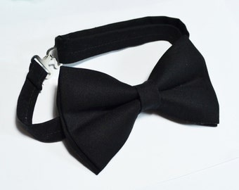 Black bow tie For baby/Toddler/Teen/Adult/with Adjust strap/Clip on