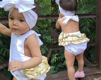 Golden Bows Romper