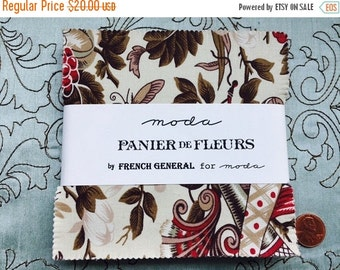 FLASH SALE: Panier de Fleurs by French General for Moda Fabrics - Charm Pack