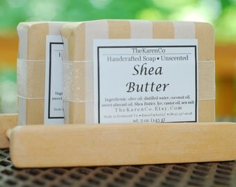 Shea Butter, Unscented, Cold Process Soap, All Natural Soap, Face Soap