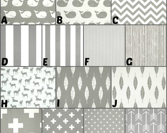 Custom Crib Bedding and Nursery Decor / Design Your Own / Crib Bumper / Crib Skirt / Crib Sheet / Premier Prints / Storm #1