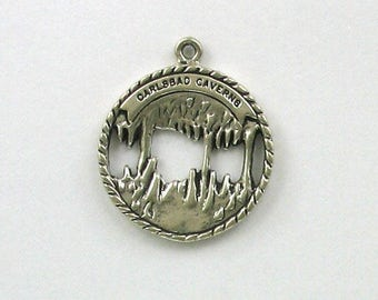 Sterling Silver Carlsbad Cavern Disk