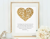 Real foil print inspirational rumi quote
