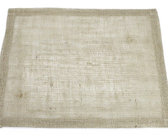 "Natural / Tan 13""x17"" Burlap Placemat Set of 6  Looks great on a dinner table and banquet tables for special events. (BH-P12)"