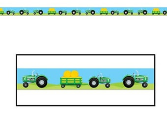 Farm Tractor Party Zone tape caution tape, decorating birthday decorations supplies birthday dance John Deere Themed parties