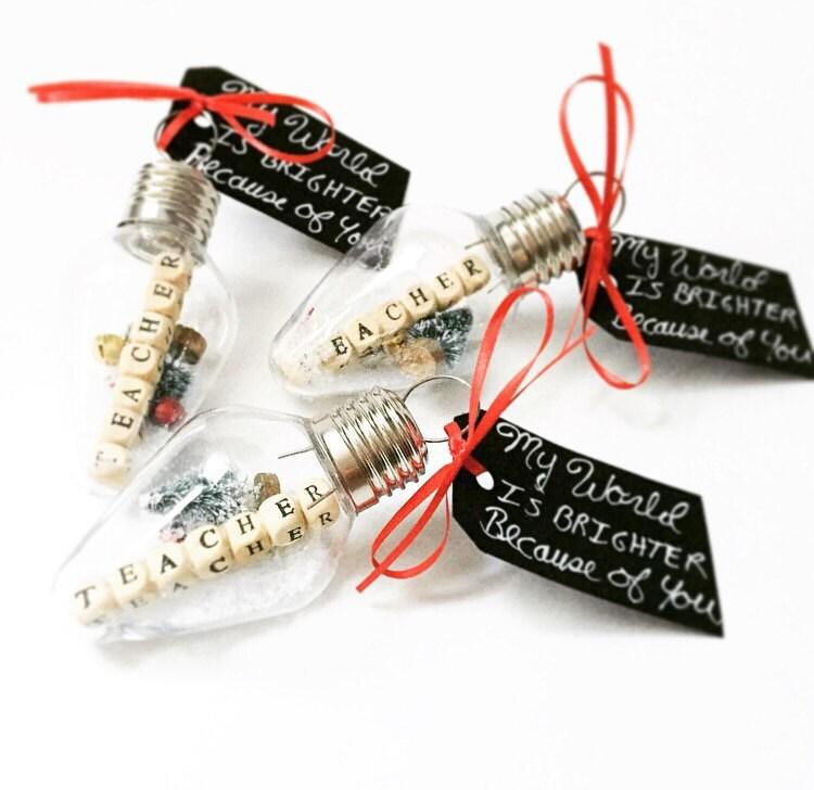 Teacher 39 s christmas gift teacher gift teacher ornament for Christmas ornaments to make for gifts