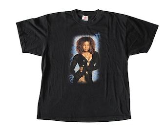 Vintage Janet Jackson The Velvet Rope Black T-Shirt XL 1998 90s R&B Pop Singer