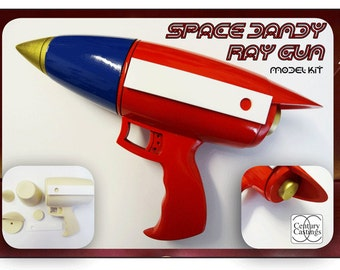 Space Dandy ray gun model kit science fiction cosplay prop retro ray gun