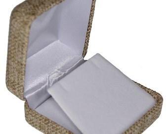 Burlap Covered Flap Earring Box (Pkg of 3)  (DBX3905)